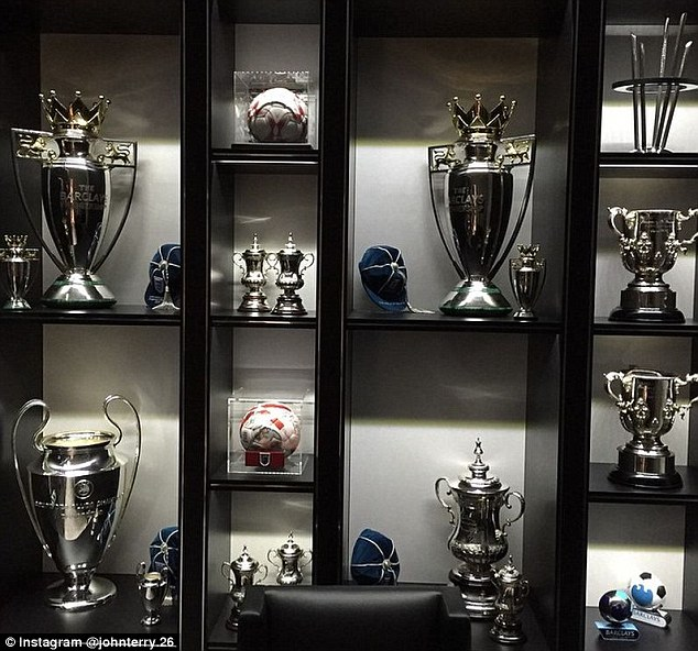 John Terry shares a stunning snap of his trophy cabinet as