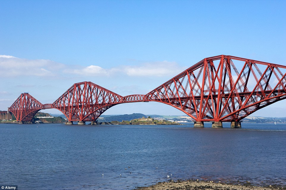 The Forth Bridge in the east of Scotland opened in 1890 and continues to carry passengers and freight over the Forth River