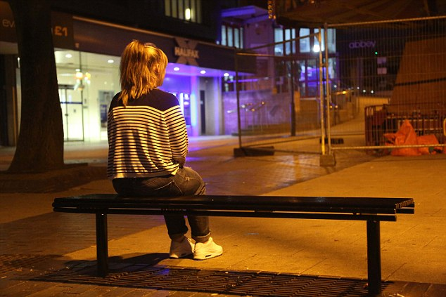 Like Sarah, 'Emma' (not her real name) pictured in Rotherham, was gang-raped by Asian gangs at the age of 12. Sarah said it was happening to so many girls in her home town, they thought it was 'normal'