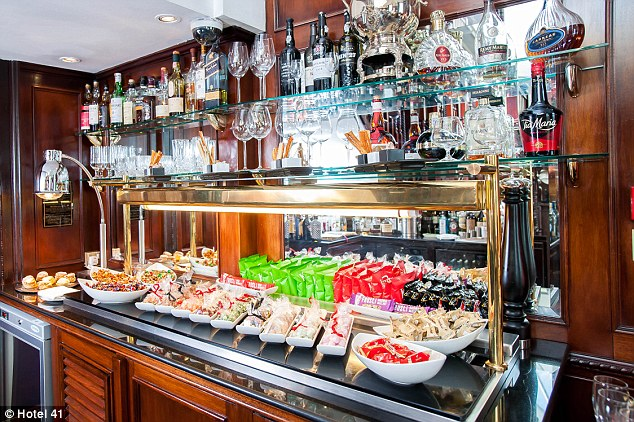 At Hotel 41 in London, the customary mini-bar has been replaced by a full-service maxi-bar in the lobby. The  'Plunder the Pantry' services offers round the clock treats - from freshly baked breads to cured meats