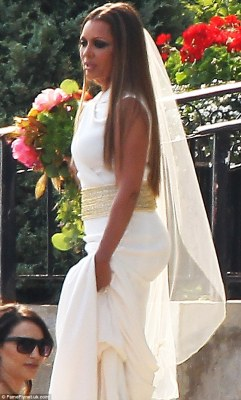White wedding: Vanessa Williams got married in Buffalo, New York on Saturday as she wore two gowns