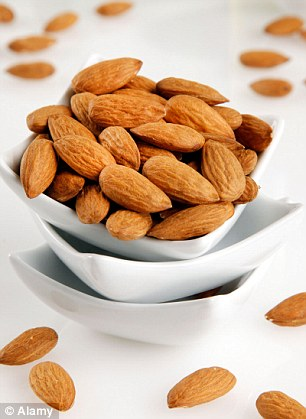 Almonds are able to target fat loss from specific problem areas