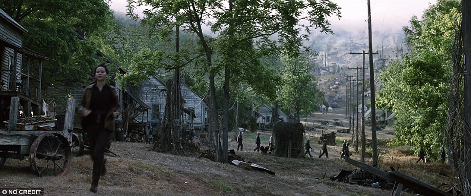 Eagle-eyed Hunger Games fans will recognise District 12 as a small ghost town outside of Asheville, North Carolina