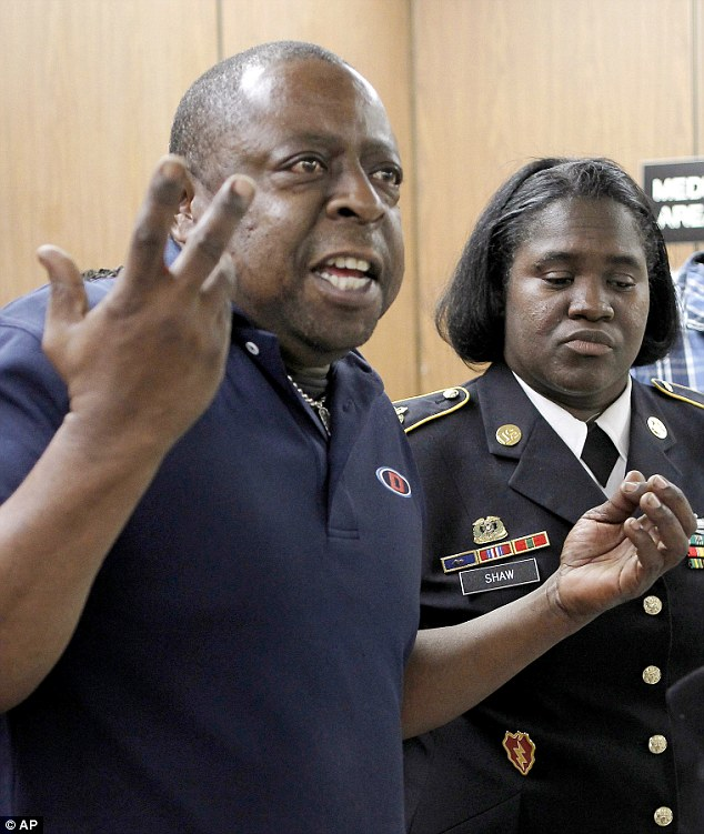 Bereaved: Jamiel Shaw and Anita Shaw after their sons death. Sgt Shaw was serving in Iraq when her 17-year-old son was murdered