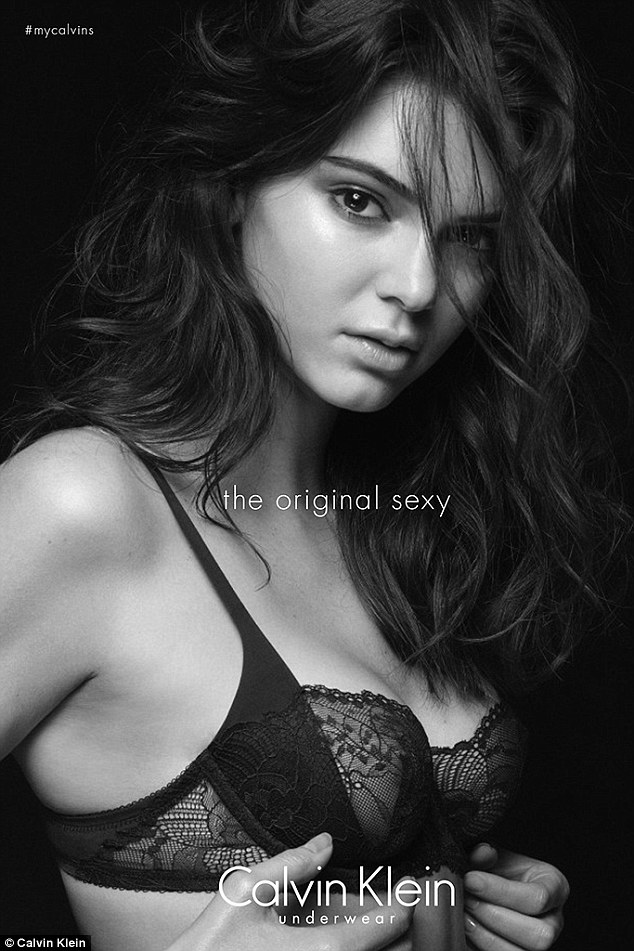 'The Original Sexy': Smoldering for the camera the 19-year-old poiuts provocatively in a lace bra