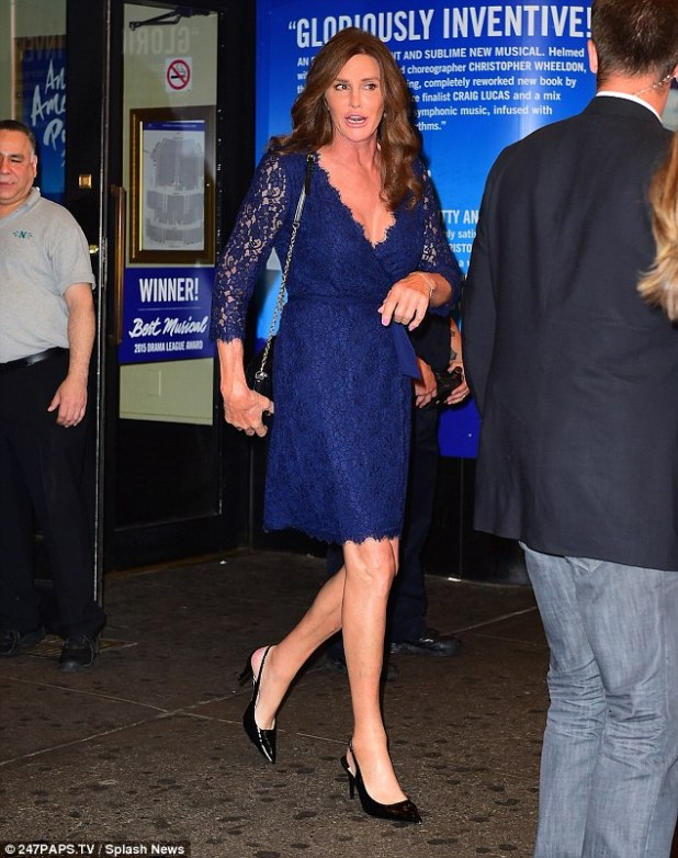 A fan of lace: Caitlyn, pictured last week, has been showing off her style since revealing her true identity