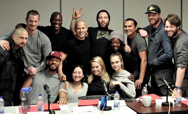 Script stars: The cast were pictured on Twitter during the first read-through of the highly anticipated film