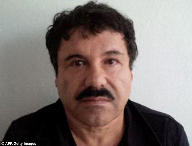On the run:Joaquin 'El Chapo' Guzman, pictured in a mugshot last year, fled from his prison last night