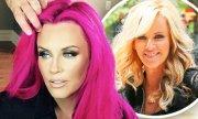 jenny mccarthy debuts pink hair