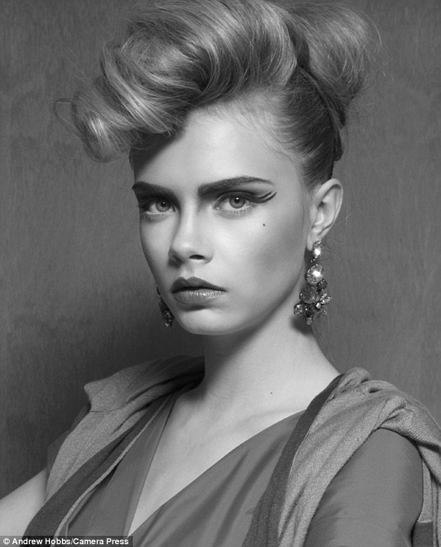 Beauty shot: The young model is flawless in the high fashion shoot, taken by Andrew J. Hobbs