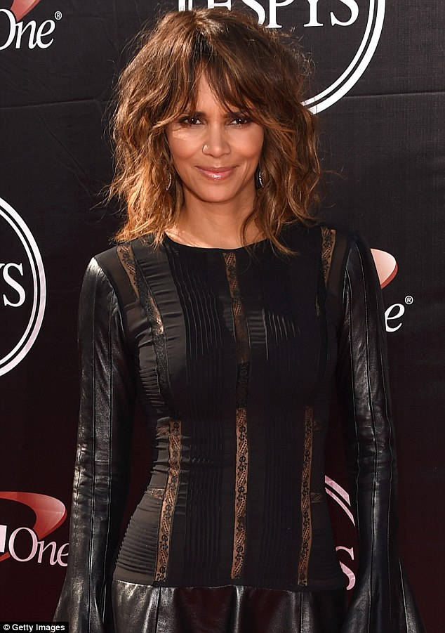 Tight in all the right places: The actress' leather-and-lace number highlighted her flawless figure