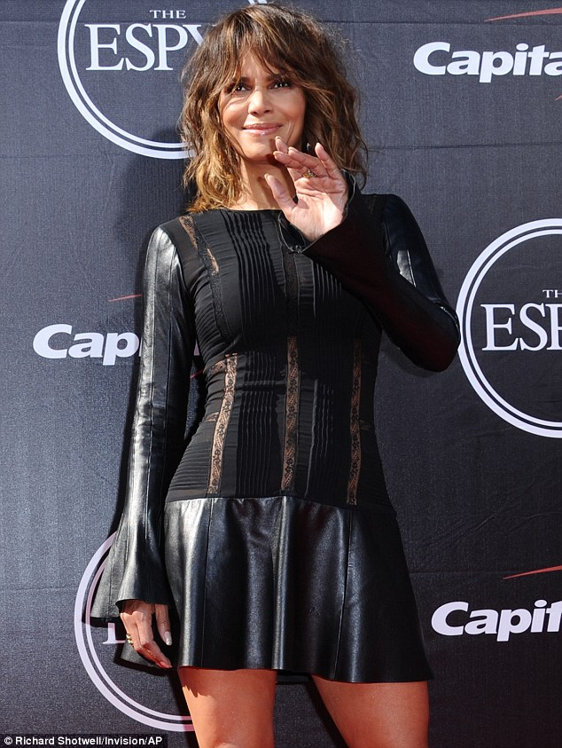 Making waves: The actress, who plays Storm in the X-Men films, was lapping up the attention on the red carpet
