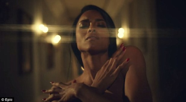 Smoking: Ciara reveals her stunning body as she strips completely naked in her latest music video for Dance Like We're Making Love