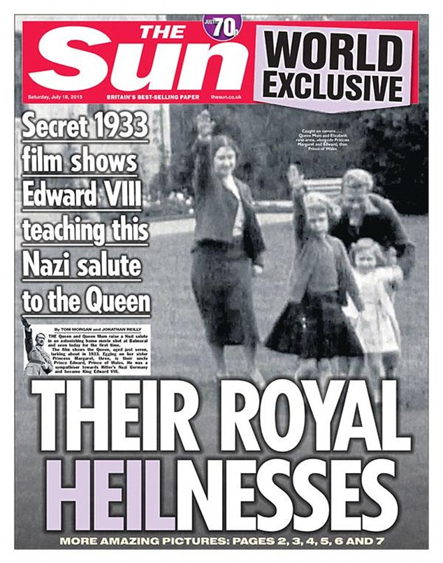 Image result for royal family nazi salute
