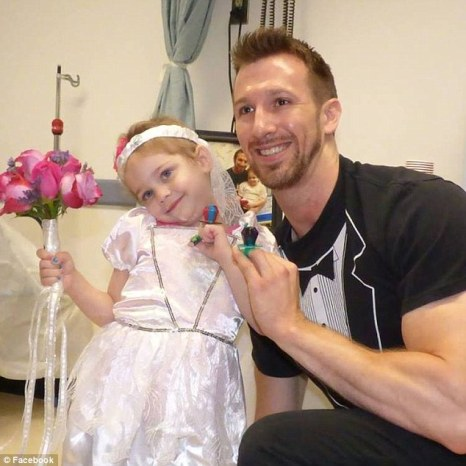 Abby, a 4-year-old cancer patient at the Albany Medical Center in New York, got 'married' to Matt Hickling, her favorite nurse, on Thursday