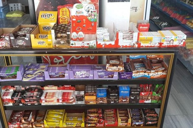 An array of European chocolate allegedly appears on sale, with fighters regularly posting their favourite treats on social media
