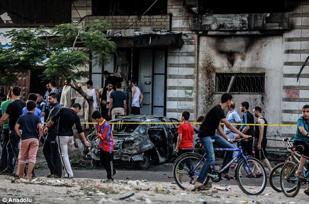 Devastador: ataques con bombas La atravesaron varios vehículos en el norte de la ciudad de Gaza