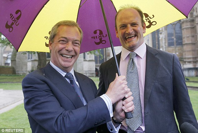 Important: Ukip MP Douglas Carswell (pictured with Nigel Farage back in May) said Freedom of Information had been the key to the exposure of MPs 'abusing their expenses'