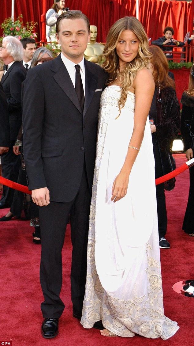 Gisele e Leonardo no Oscar em 2005