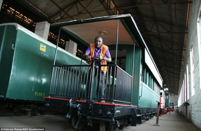 Hidden in warehouses:Amazingly, the carriages were used as shelter by refugees during the country's civil war of 1992 to 2002