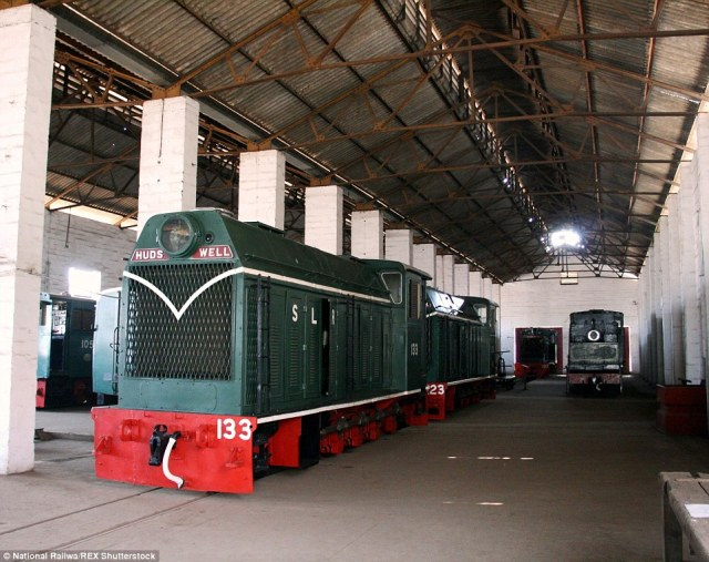 Hidden for decades:It's said railway staff secretly hid and locked their favourite locomotives away from potential scrapping in sheds at the Freetown docks during the 1970s