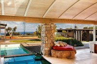 Mediterranean villa with a pool beneath the living room ...