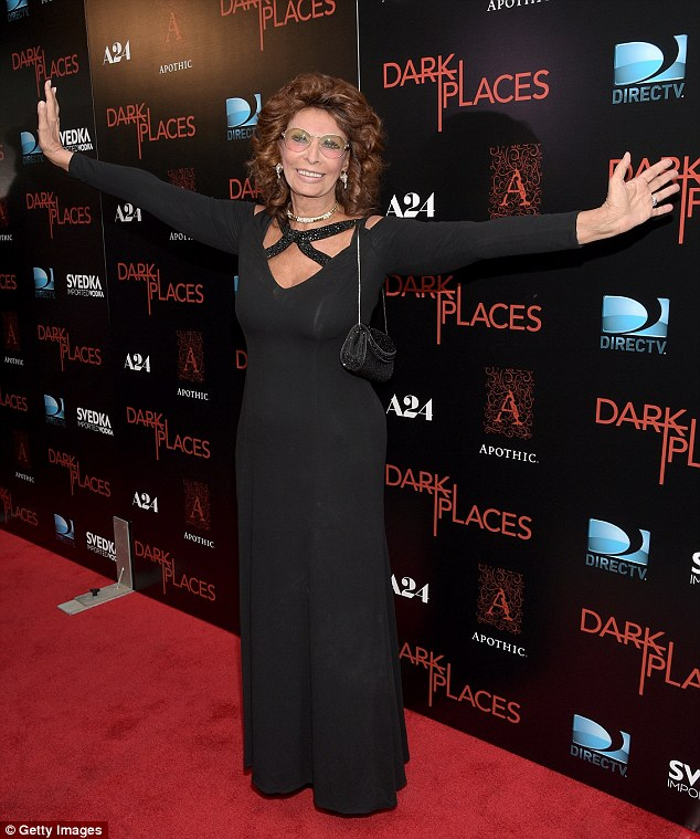Happy to be here! Legend Sophia Loren attended the premiere