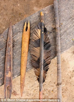 The tribe uses weapons such as lances and bows and arrows to attack