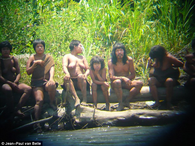 Mystery: The Mashco Piro tribe, who live in the Amazon rainforest in Peru on the border with Brazil, are one of the last uncontacted indigenous groups left