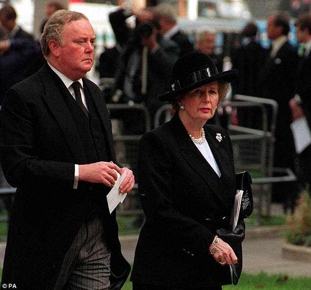 Ex-Cabinet Secretary Lord Armstrong was warned by the security services in 1986 that an MP had 'a penchant for small boys' but no action was taken. While the MP has not been named, other papers in the files relate to key figures from the 1980s, including Mrs Thatcher's secretary Sir Peter Morrison (together above)