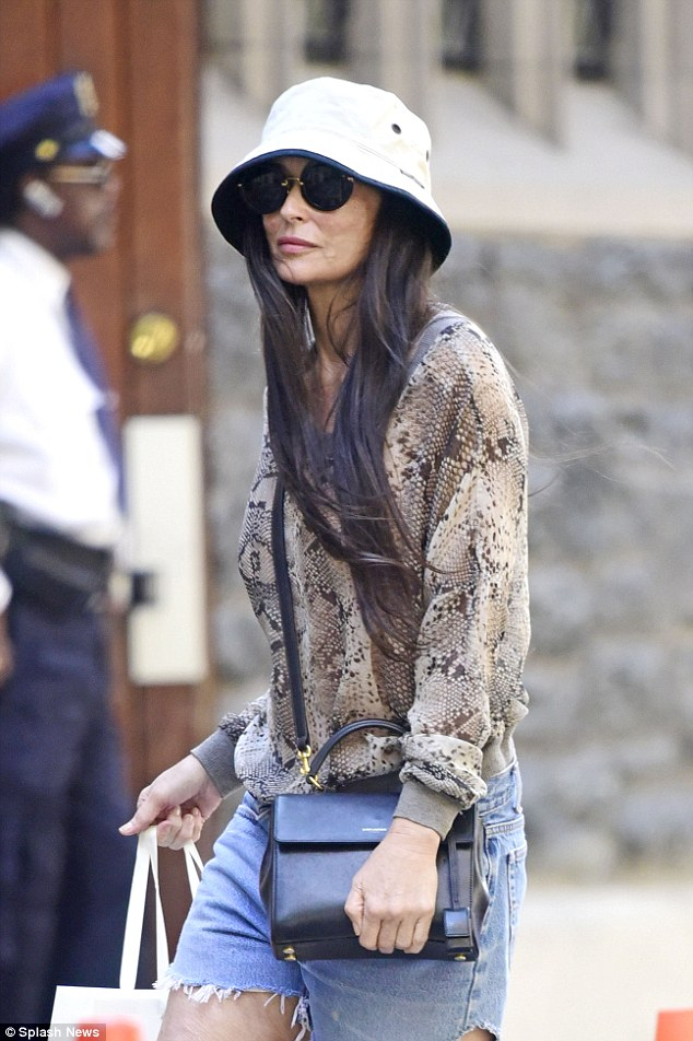 Demi Moore Looks Sombre In New York After Pool Death At LA