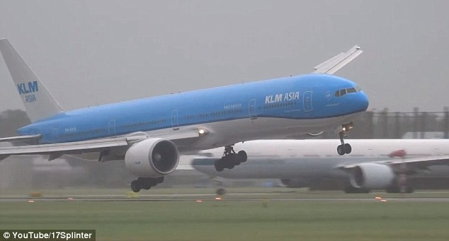 Footage shows the plane banking hard to the right just seconds before its landing gear touched the runway