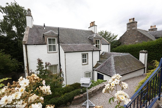 Family home: Sewel lives with his third wife at this £1.2million house in Banchory, 18 miles west of Aberdeen
