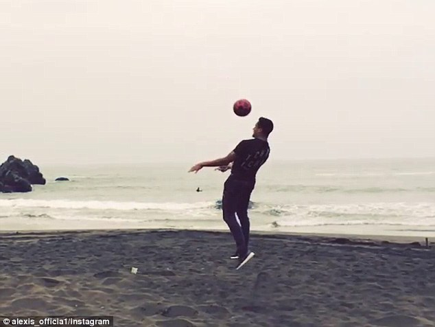 Sanchez timed the header well as he showed off his aerial prowess before his return to Arsenal