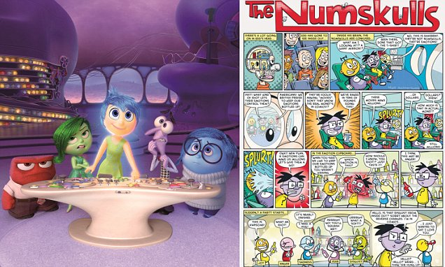Pixars Inside Out bears a resemblance to Beano comic strip The Numskulls  Daily Mail Online