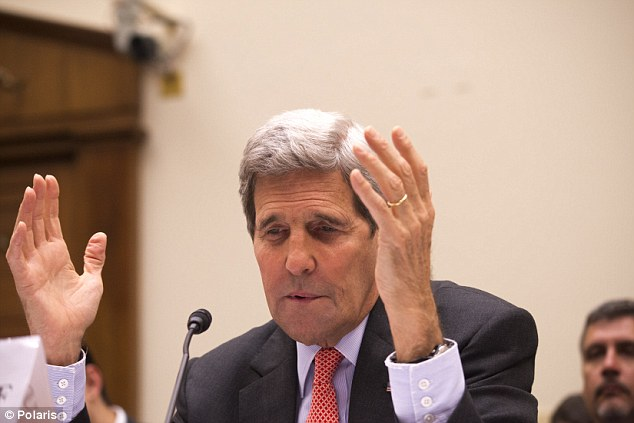 Testy:Kerry pleaded with lawmakers - often over cross-talk - today not to hold out for a better deal. It won't come, he explained. 'If you kill the deal, you are not making America safer.'