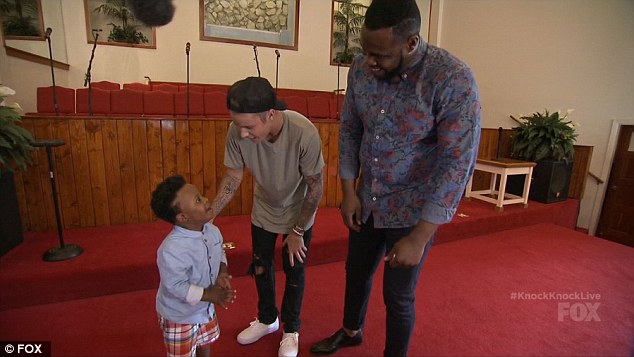 Starstruck: Here he met Nikia and his adorable rapping toddler son Noah, who had down syndrome