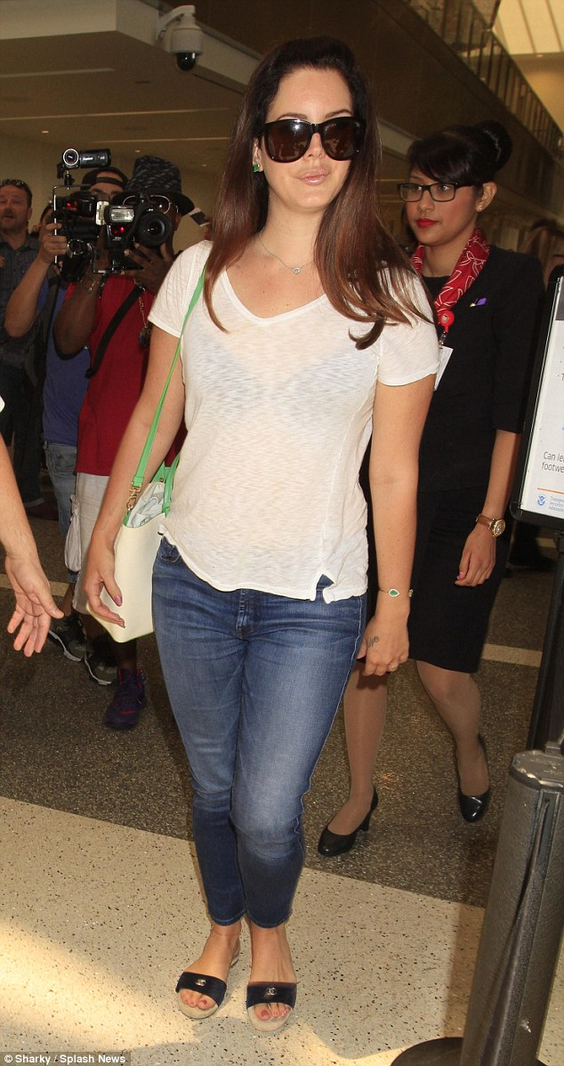 Lana Del Rey Arrives At Lax With Boyfriend Francesco