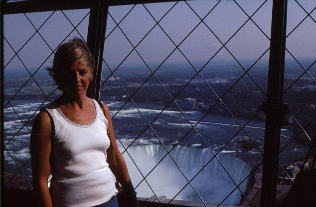 American dream: My mum at Niagara Falls. Some of our best holidays had been in the USA.