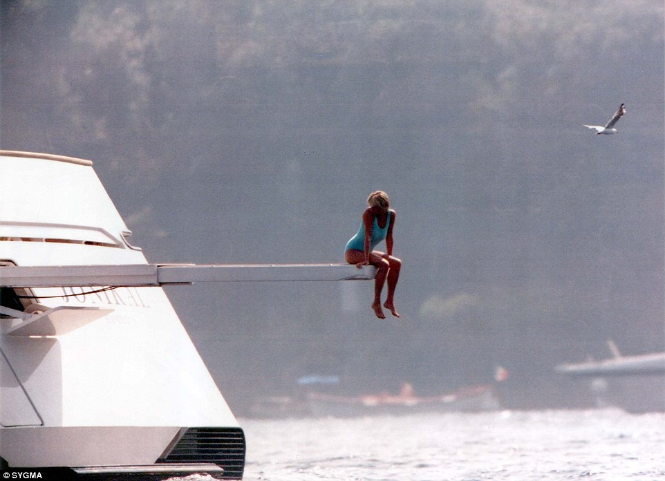 Mohamed Al Fayeds Relaxes On A Yacht HALF Of Diana And