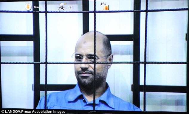 Video link: Saif Gaddafi was sentenced to death in a Tripoli court last week for crimes against the Libyan people