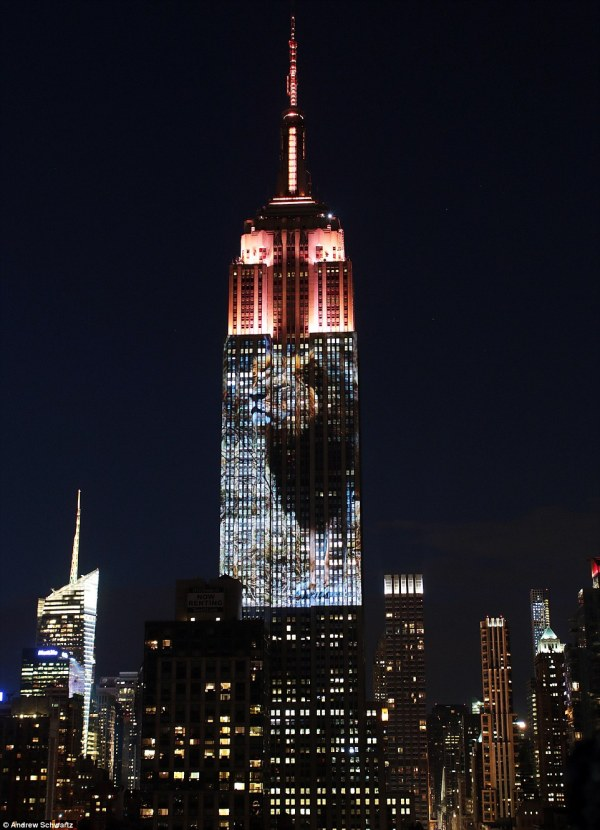 Cecil Lion Projected Empire State Building In