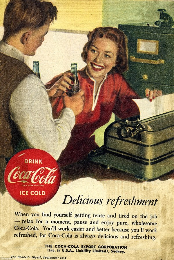 Seven Decades Of Coca-cola Advertising Shows Soft Drink' Famous Curved Bottle