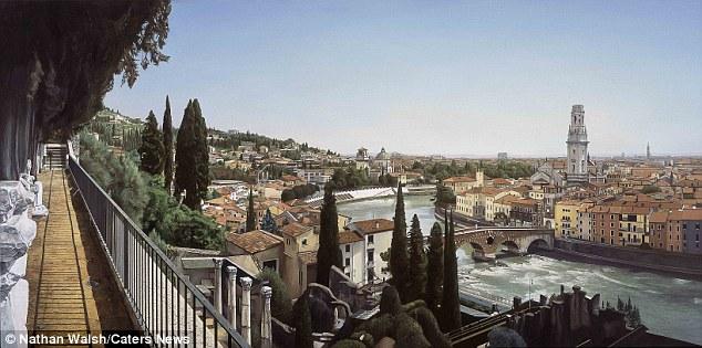 Dependendo da complexidade do trabalho, uma pintura pode buscar até uma gritante $ 125.000 (£ 80,000).  Na foto é Verona