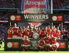Image result for Arsenal beat Chelsea to win FA Community Shield
