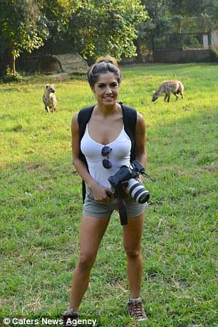 The animal-loving brunette shooting a film
