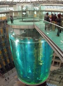 Aquadom' Hotel Aquarium In Berlin Elevator