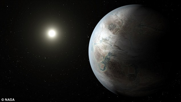 The discovery of the Earth-like planet Kepler-452b, shown above in an artists impression, has led the director of the Vatican Observatory to say he believes there may well be intelligent life elsewhere in the universe. Father Jose Funes, however, said he did not think aliens would have another Jesus as it was a 'unique event'