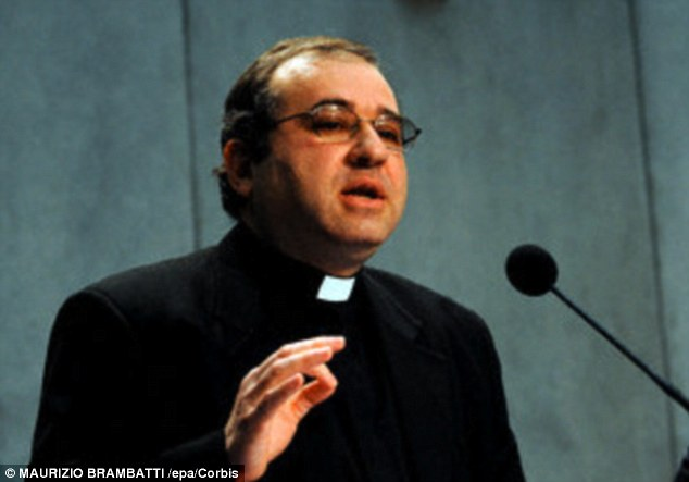 Father Jose Funes, shown above, said the discovery of rocky planets outside our own solar system made it likely the 'vast majority of stars in our galaxy' could potentially have planets were life could develop. However, he said he remained skeptical about whether mankind would ever manage to meet intelligent alien life forms