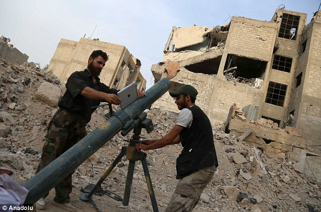 The high-tech iPad was employed in the middle of running street battles between the rebels and regime troops